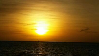 sunset of india
