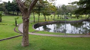 Main park in Yangon