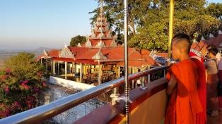 Monk at Mandalay Hill