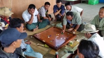 Men playing a local game