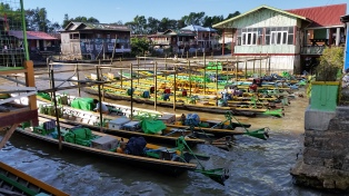 Typical Burmese boats